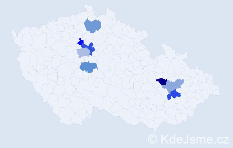 Příjmení: 'Fišmistr', počet výskytů 13 v celé ČR