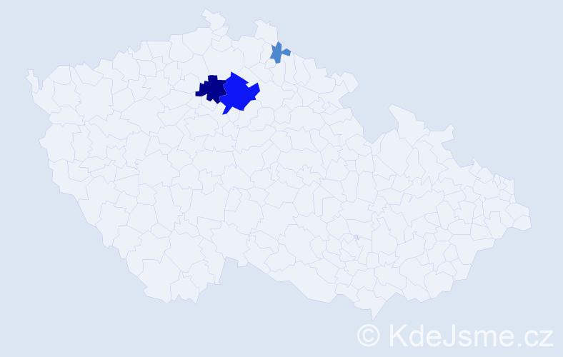 Příjmení: 'Gazsová', počet výskytů 11 v celé ČR