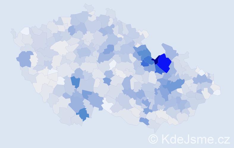 Příjmení: 'Kubíčková', počet výskytů 4273 v celé ČR