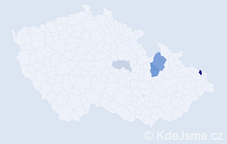 Příjmení: 'Karwaczyková', počet výskytů 12 v celé ČR