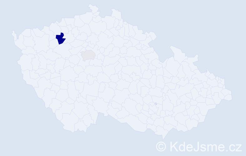 Příjmení: 'Čeklovský', počet výskytů 3 v celé ČR
