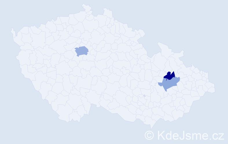 Příjmení: 'Knappek', počet výskytů 7 v celé ČR