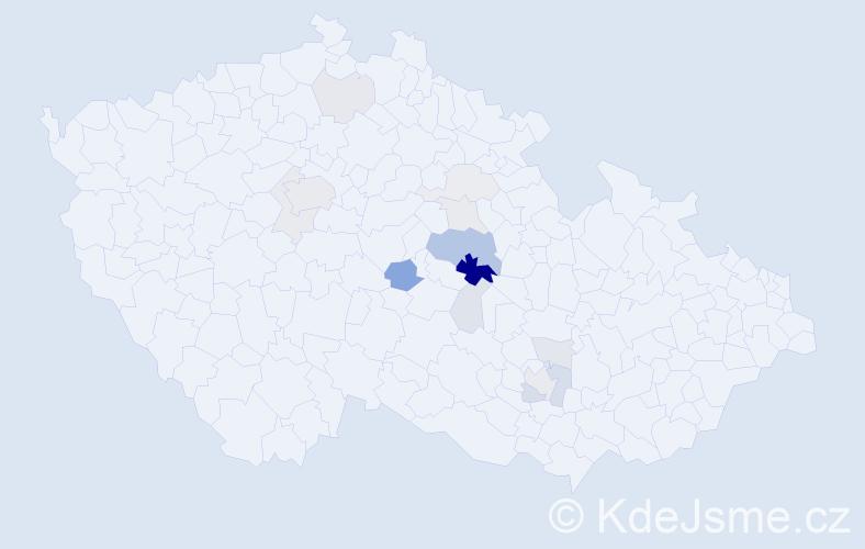 Příjmení: 'Jindřichovský', počet výskytů 41 v celé ČR