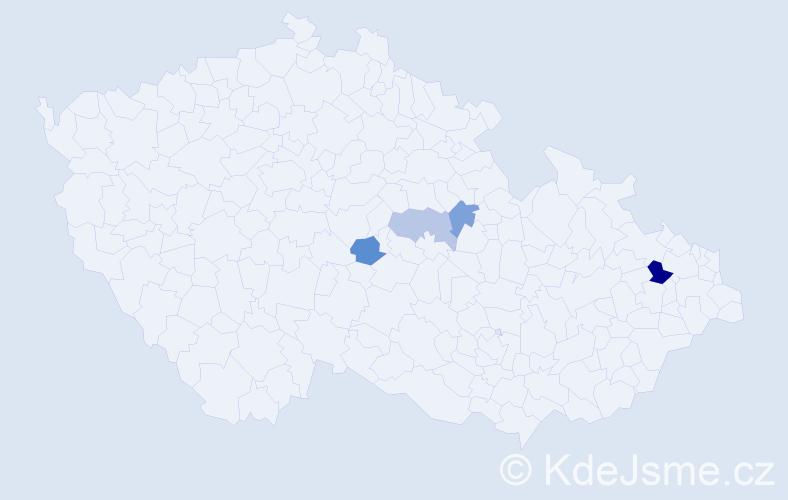 Příjmení: 'Čeliňáková', počet výskytů 6 v celé ČR