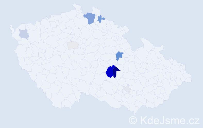 Příjmení: 'Limlová', počet výskytů 20 v celé ČR