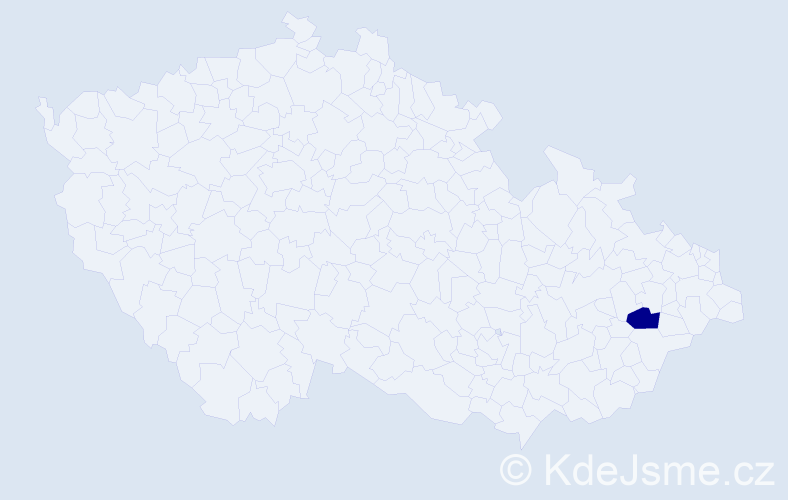 """Příjmení: '""""Hájková Horňáková""""', počet výskytů 1 v celé ČR"""