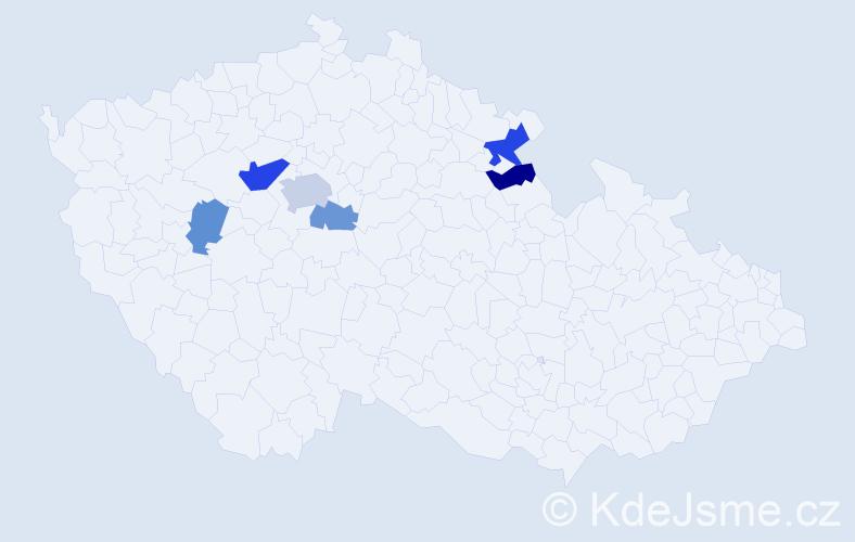 Příjmení: 'Langenberger', počet výskytů 11 v celé ČR