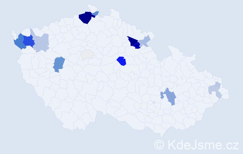 Příjmení: 'Banduričová', počet výskytů 33 v celé ČR