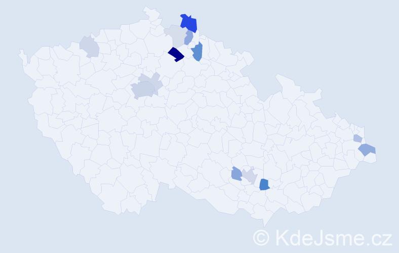 Příjmení: 'Hloužková', počet výskytů 33 v celé ČR