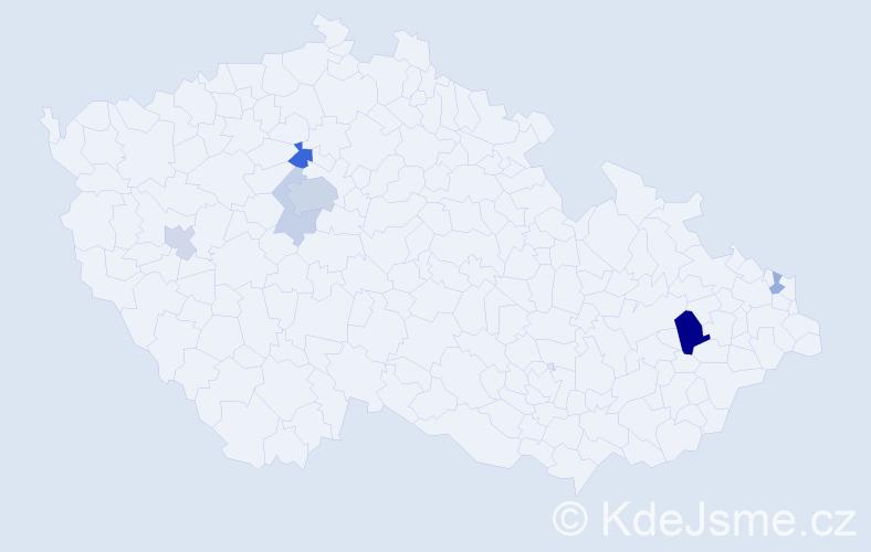 Příjmení: 'Demišová', počet výskytů 15 v celé ČR