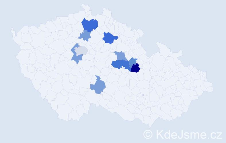 Příjmení: 'Blajda', počet výskytů 20 v celé ČR
