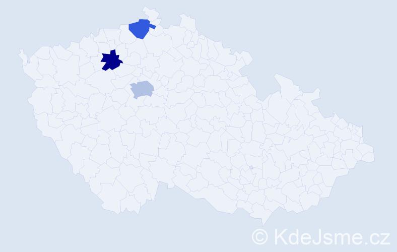 Příjmení: 'Babičík', počet výskytů 4 v celé ČR