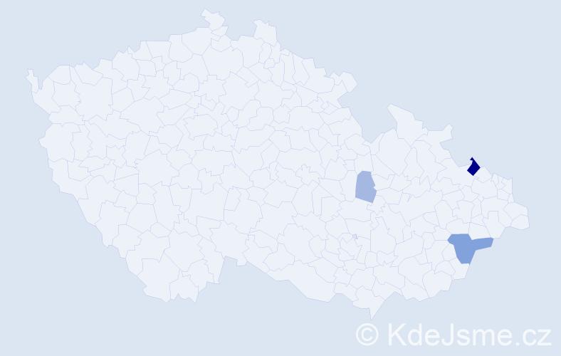 Příjmení: 'Kancnerová', počet výskytů 10 v celé ČR