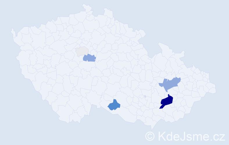 Příjmení: 'Geráková', počet výskytů 11 v celé ČR