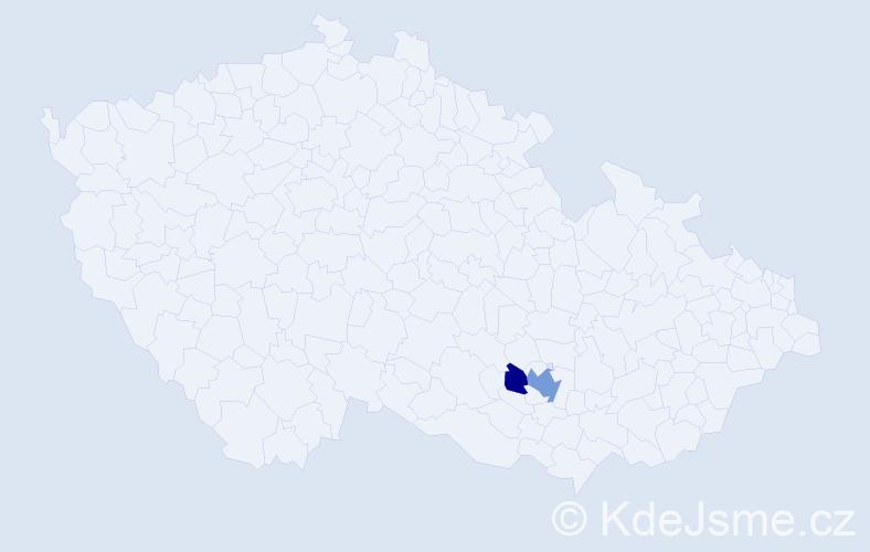 Příjmení: 'Gyulzadyan', počet výskytů 4 v celé ČR