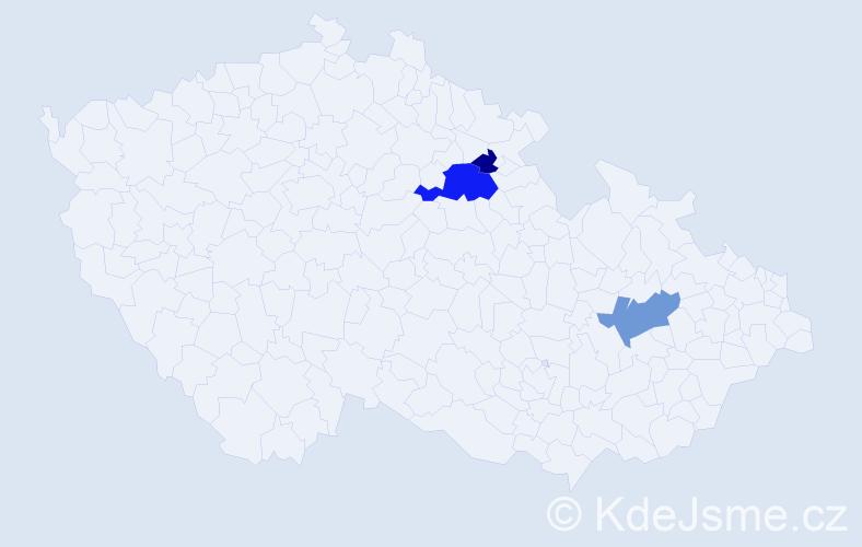 Příjmení: 'Černilovská', počet výskytů 7 v celé ČR