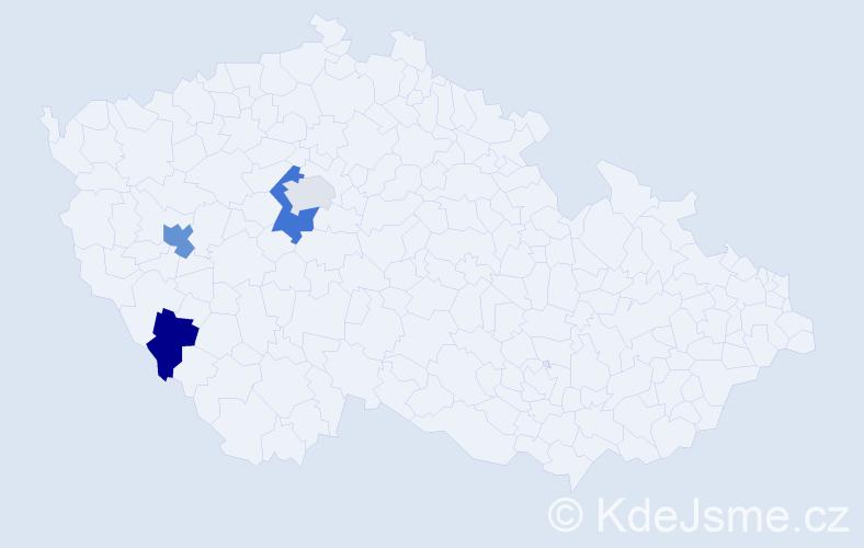 Příjmení: 'Ciňková', počet výskytů 6 v celé ČR