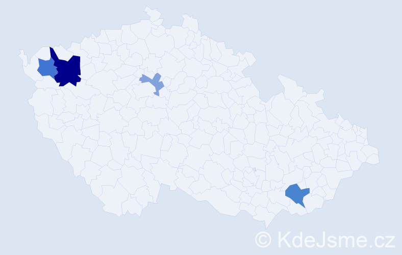 Příjmení: 'Arvensisová', počet výskytů 9 v celé ČR