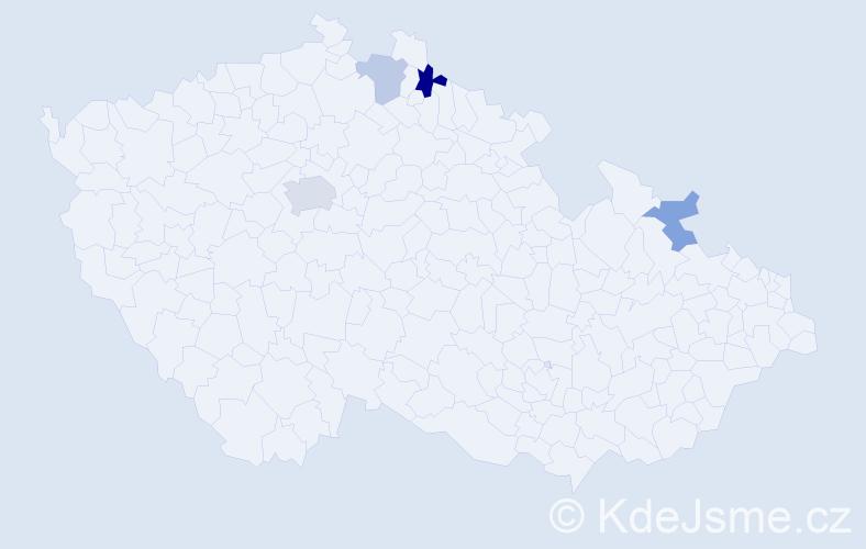 Příjmení: 'Fabinyiová', počet výskytů 7 v celé ČR