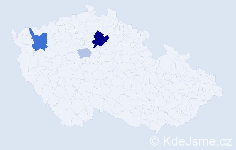 Příjmení: 'Kassapdančevová', počet výskytů 5 v celé ČR