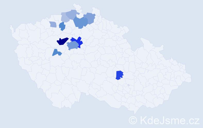 Příjmení: 'Altner', počet výskytů 37 v celé ČR