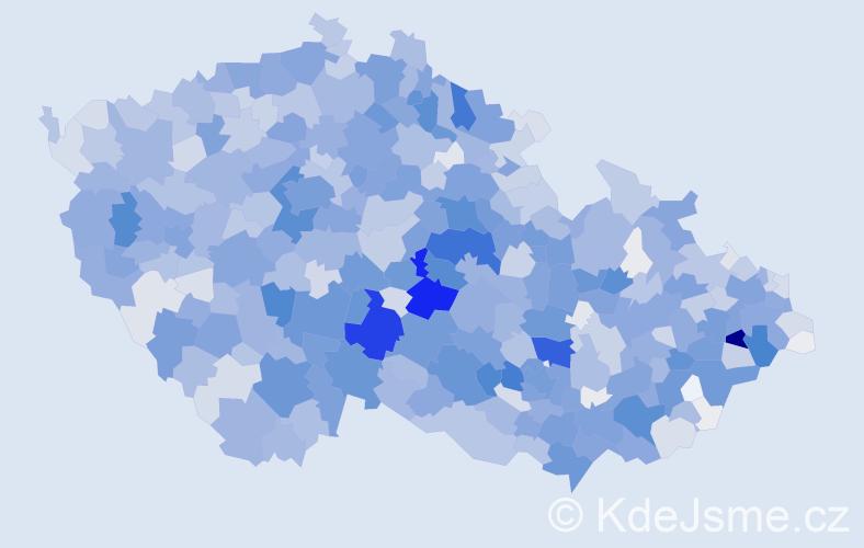 Příjmení: 'Blažek', počet výskytů 7235 v celé ČR