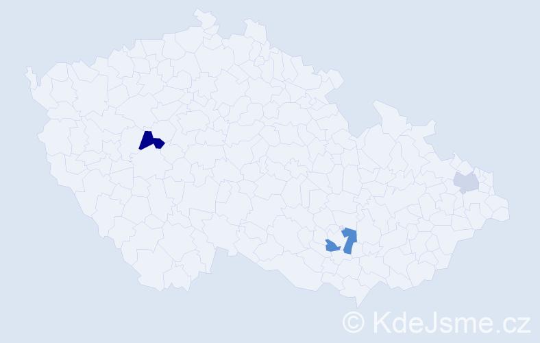 Příjmení: 'Demáčková', počet výskytů 5 v celé ČR