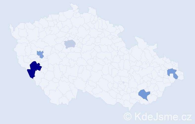 Příjmení: 'Hamhalter', počet výskytů 31 v celé ČR
