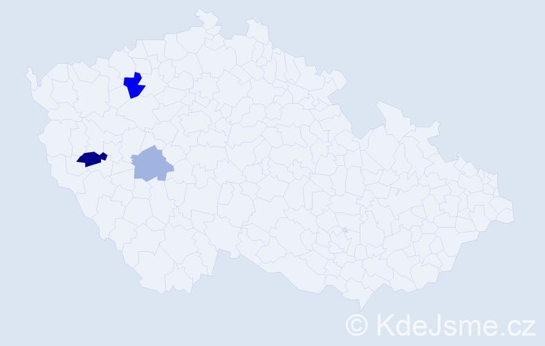 Příjmení: 'Hattová', počet výskytů 5 v celé ČR