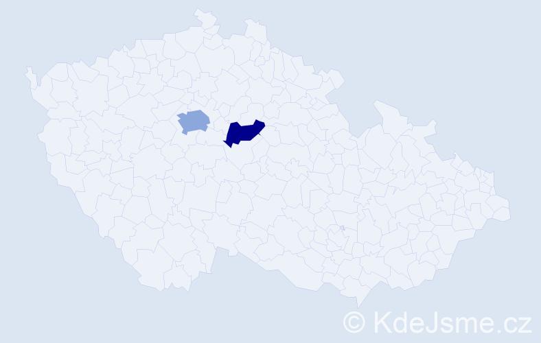 Příjmení: 'Kulanová', počet výskytů 3 v celé ČR
