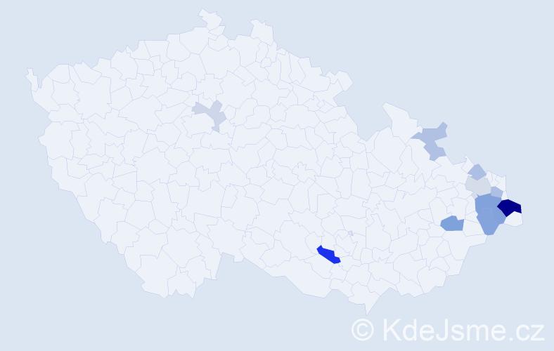 Příjmení: 'Górny', počet výskytů 27 v celé ČR