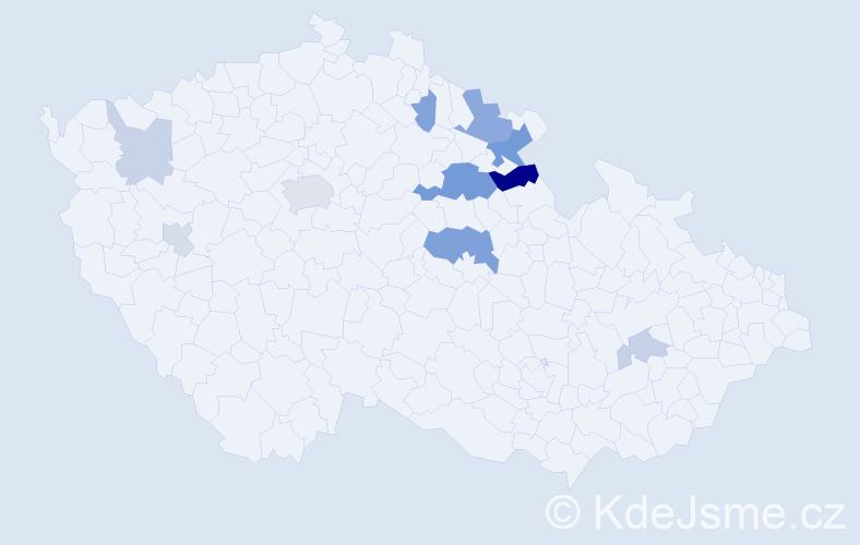Příjmení: 'Khomová', počet výskytů 24 v celé ČR