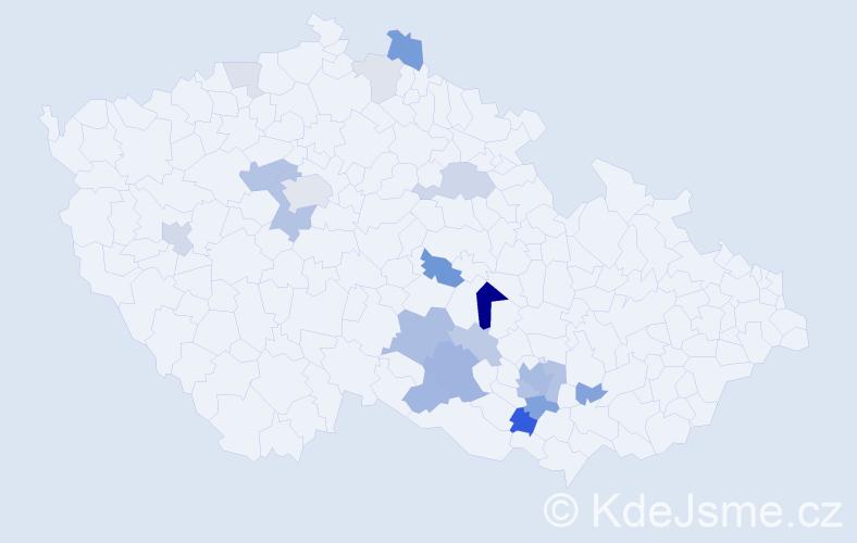 Příjmení: 'Belatka', počet výskytů 51 v celé ČR