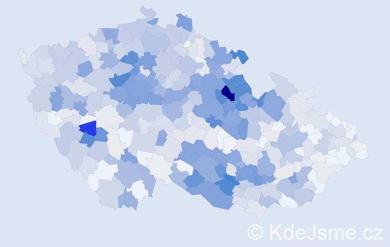 Příjmení: 'Chaloupka', počet výskytů 2503 v celé ČR