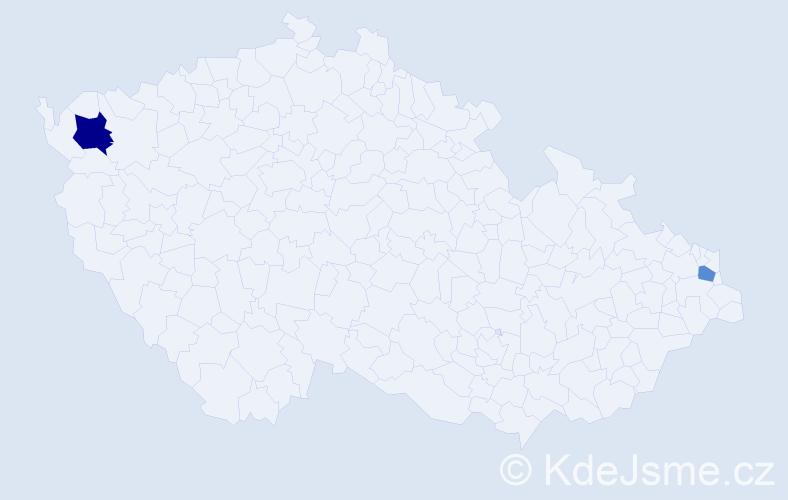 Příjmení: 'Demirov', počet výskytů 3 v celé ČR