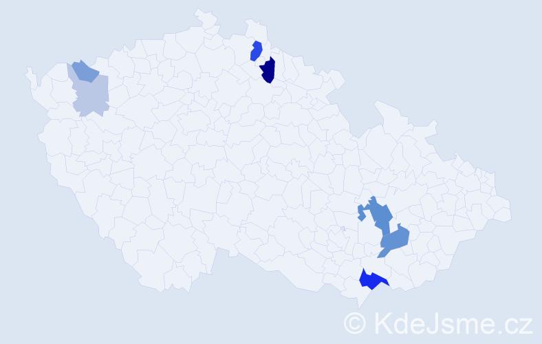 Příjmení: 'Hassa', počet výskytů 21 v celé ČR