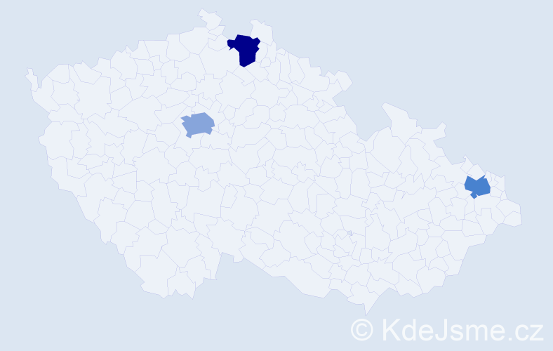 Příjmení: 'Čarňanská', počet výskytů 7 v celé ČR