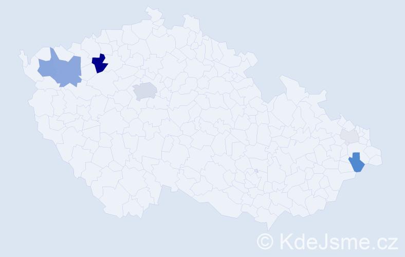 Příjmení: 'Irman', počet výskytů 21 v celé ČR