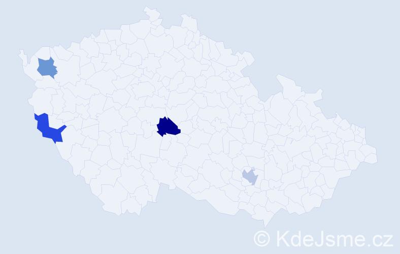 Příjmení: 'Kalányosová', počet výskytů 4 v celé ČR