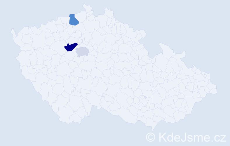Příjmení: 'Barnesová', počet výskytů 4 v celé ČR