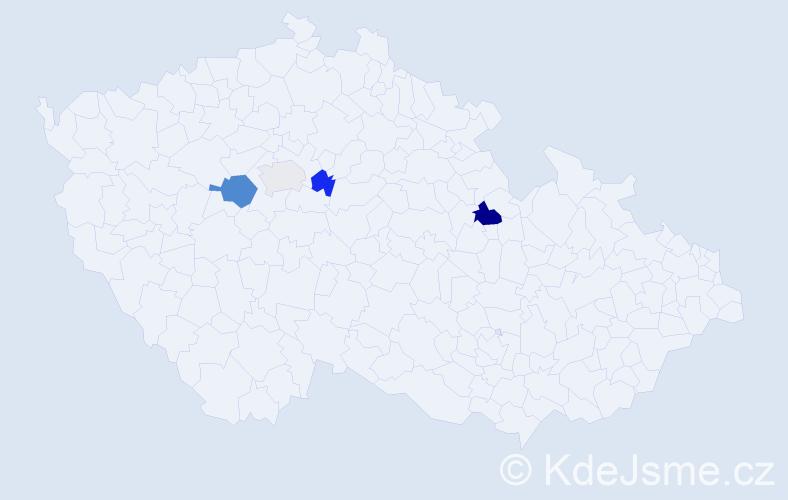 Příjmení: 'Jarišová', počet výskytů 6 v celé ČR