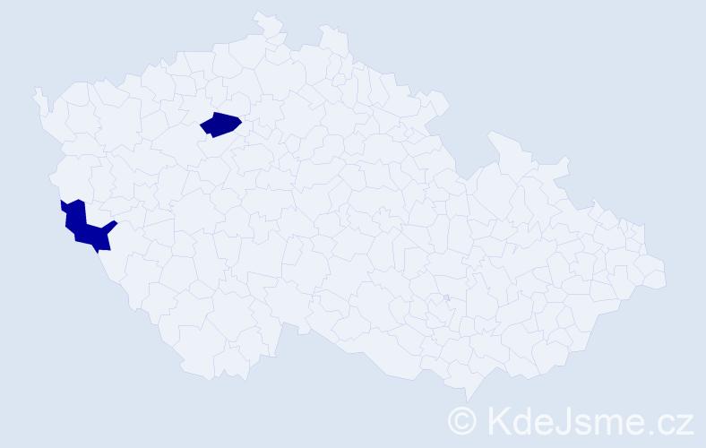 Příjmení: 'Jarolinová', počet výskytů 2 v celé ČR
