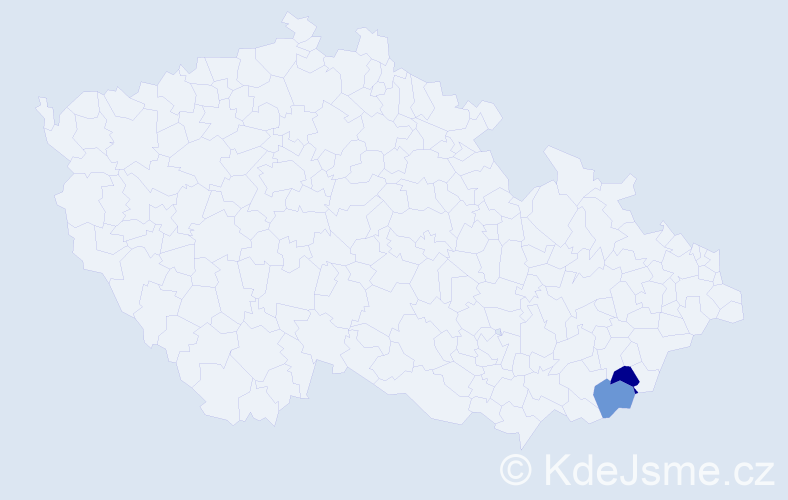 Příjmení: 'Faast', počet výskytů 2 v celé ČR