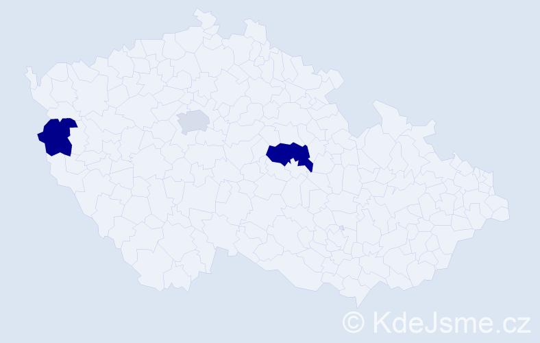 Příjmení: 'Ďalogová', počet výskytů 4 v celé ČR