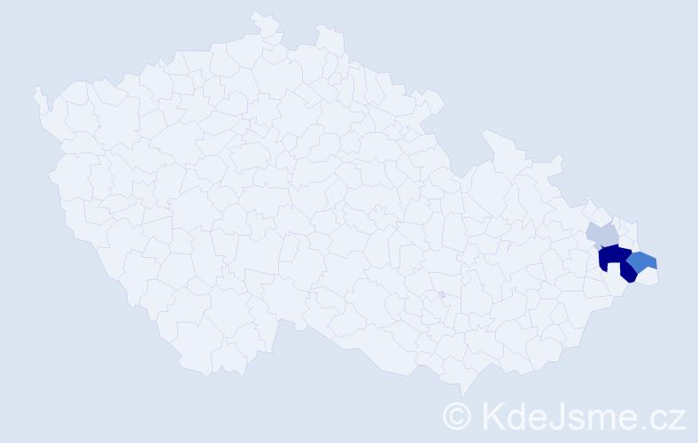 Příjmení: 'Gryžbon', počet výskytů 14 v celé ČR
