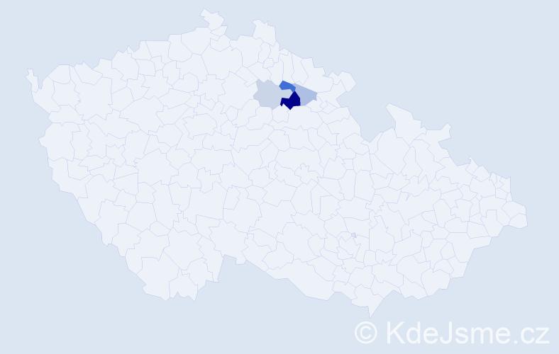 Příjmení: 'Ersepka', počet výskytů 9 v celé ČR