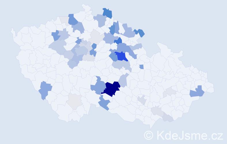 Příjmení: 'Koníř', počet výskytů 204 v celé ČR