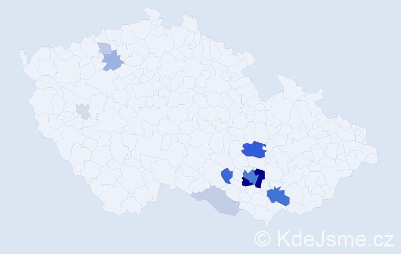 Příjmení: 'Hökl', počet výskytů 37 v celé ČR