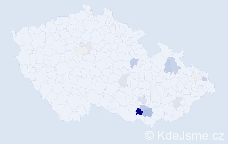 Příjmení: 'Faron', počet výskytů 36 v celé ČR