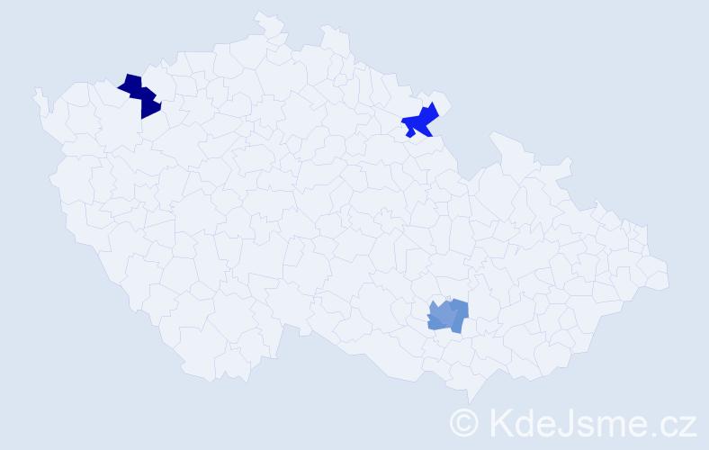 Příjmení: 'Ghazal', počet výskytů 8 v celé ČR